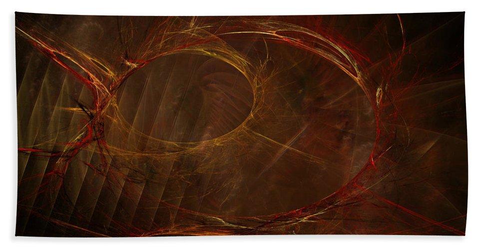 John Knapko Bath Sheet featuring the digital art To The Death by John Knapko