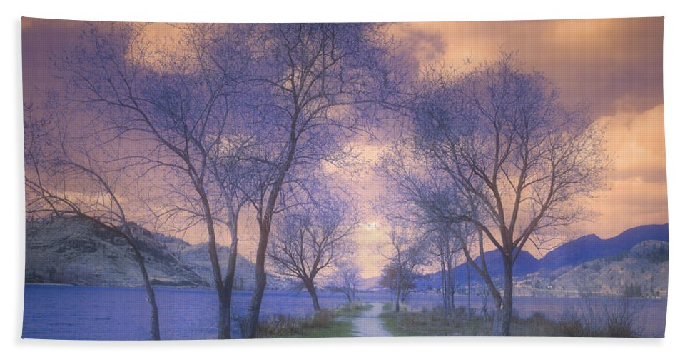 Trees Hand Towel featuring the photograph To The Water by Tara Turner