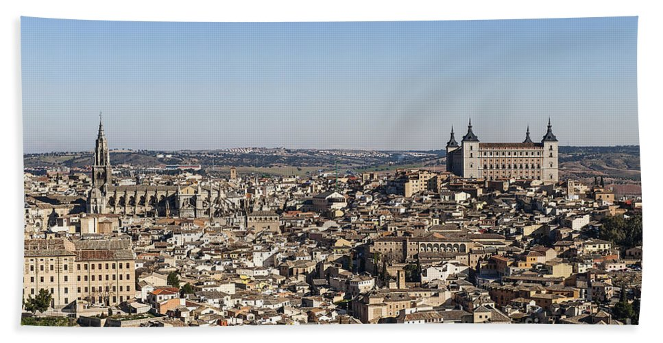 Alcazar Bath Sheet featuring the photograph Toledo Cityscape by John Greim