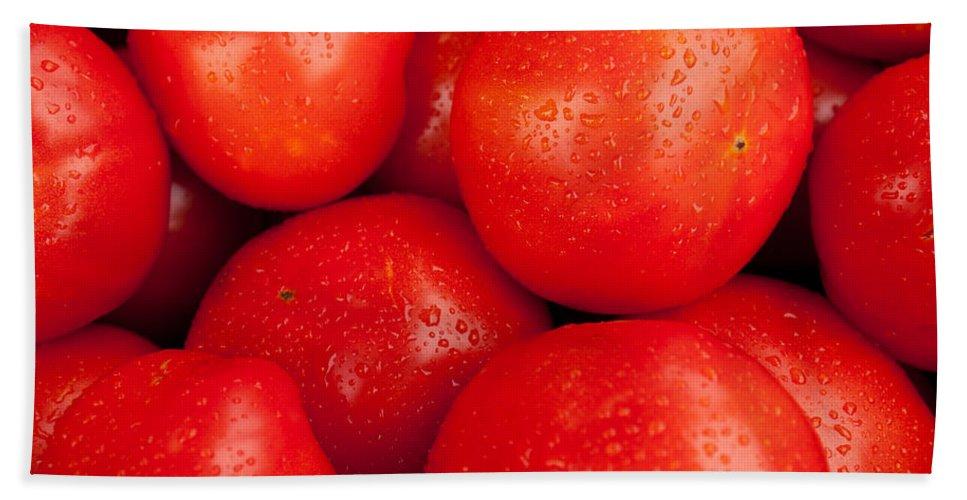 Tomatos Bath Sheet featuring the photograph Tomatos by Lauri Novak