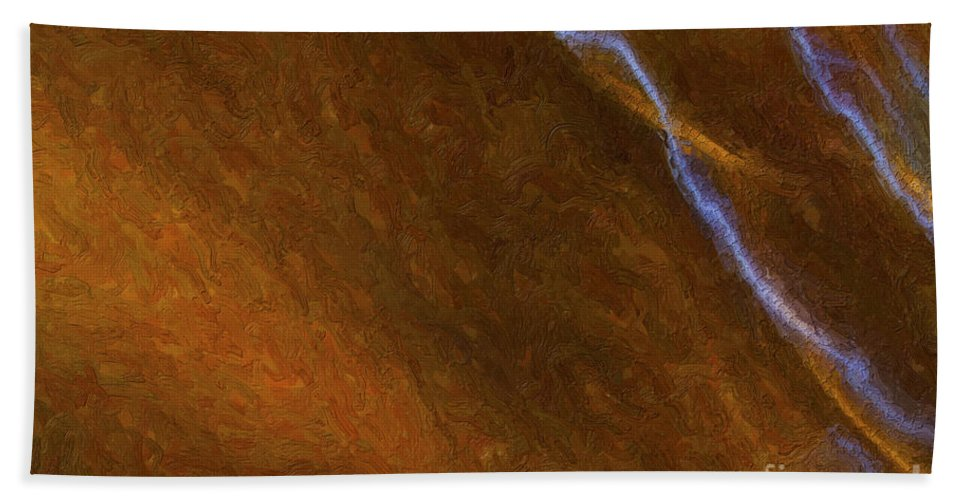 Abstract Bath Sheet featuring the digital art Tongues Of Fire by Diane Macdonald