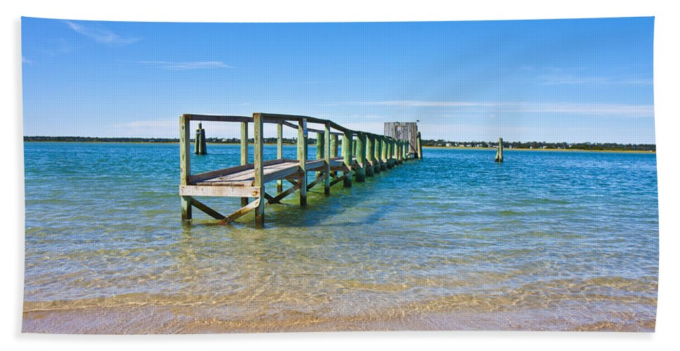 Topsail Bath Sheet featuring the photograph Topsail Island Sound by Betsy Knapp