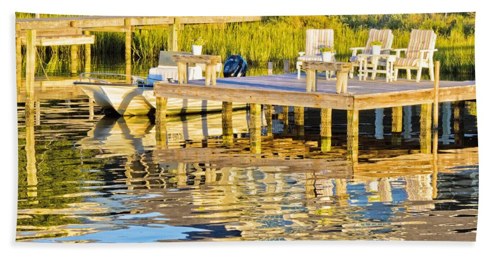 Topsail Bath Sheet featuring the photograph Topsail Sound At Sunset by Betsy Knapp