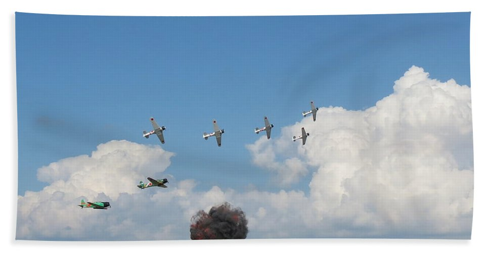Tora Tora Tora Bath Sheet featuring the photograph Tora Tora Tora by Aimee Mouw