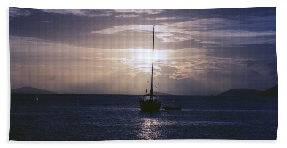 Sunset Bath Sheet featuring the photograph Tortola Sunset by William Norton