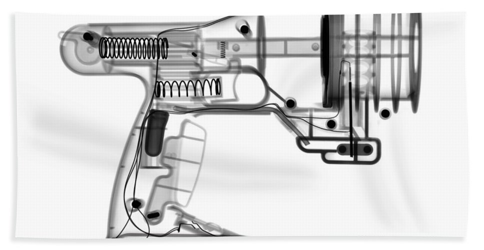 Xray Hand Towel featuring the photograph Toy Vortex Gun by Ted Kinsman