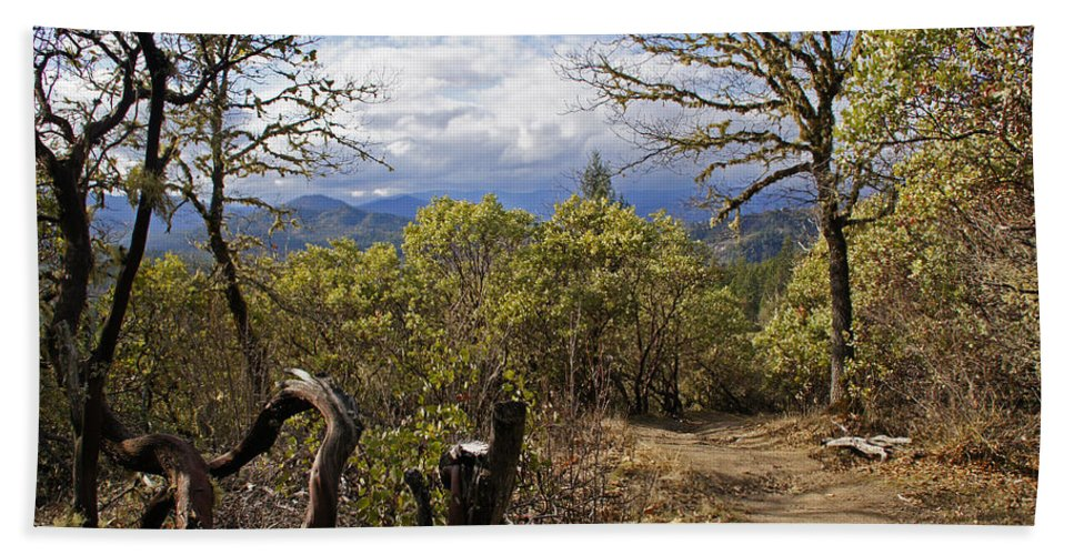 Grants Pass Bath Sheet featuring the photograph Trail At Cathedral Hills by Mick Anderson