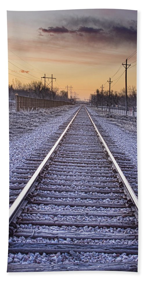 Train Bath Sheet featuring the photograph Train Tracks And Color 2 by James BO Insogna