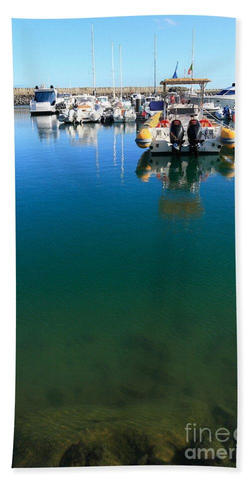 Marina Bath Sheet featuring the photograph Tranquility At The Marina by Gaspar Avila