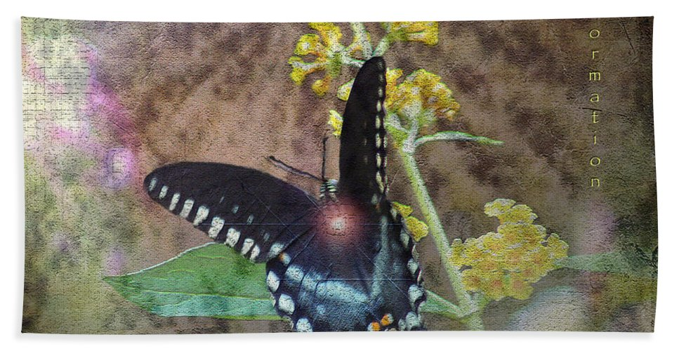 Mixed Media Hand Towel featuring the photograph Transformation by Patricia Griffin Brett