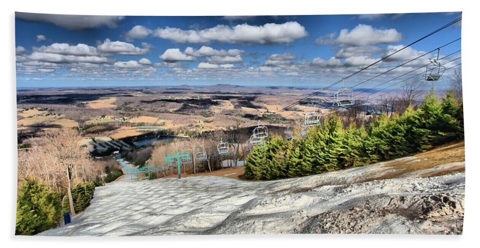 Skiing Hand Towel featuring the photograph Transition by Adam Jewell