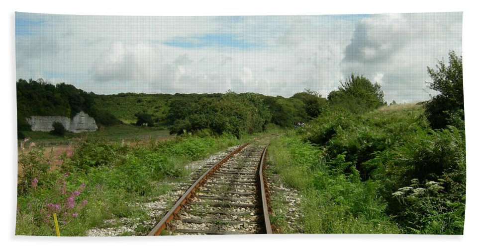 Railway Bath Sheet featuring the photograph Traveling Towards One's Dream by Donato Iannuzzi