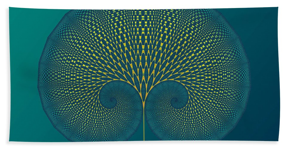 Tree Bath Sheet featuring the digital art Tree Of Well-being by Mark Greenberg