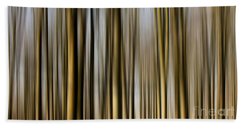 Tree Hand Towel featuring the photograph Trees In A Forest Blurred by Simon Bratt Photography LRPS