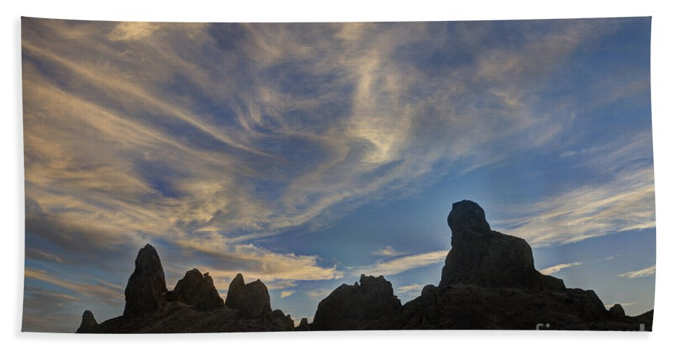 Trona Pinnacles Hand Towel featuring the photograph Trona Pinnacles 6 by Vivian Christopher