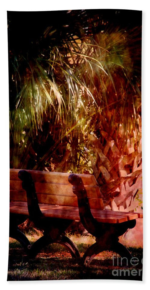 Bench Bath Sheet featuring the photograph Tropical Bench by Susanne Van Hulst