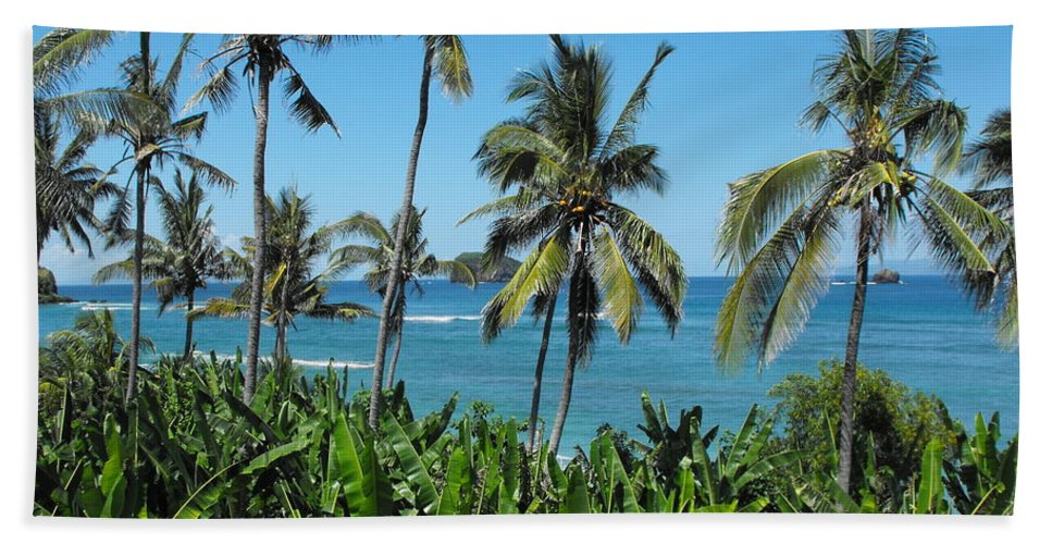 Palm Trees Bath Towel featuring the photograph Tropical Delight by Marlene Challis