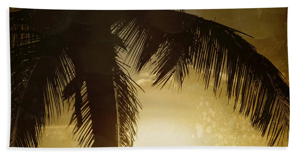 Aloha Hand Towel featuring the photograph Tropical Paradise by Sharon Mau
