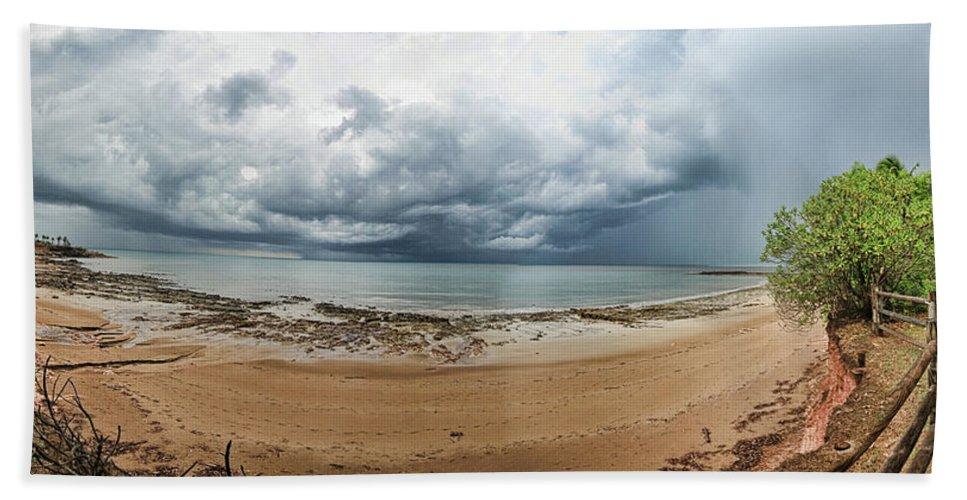Clouds Hand Towel featuring the photograph Tropical Seasonal Monsoon Rain by Douglas Barnard