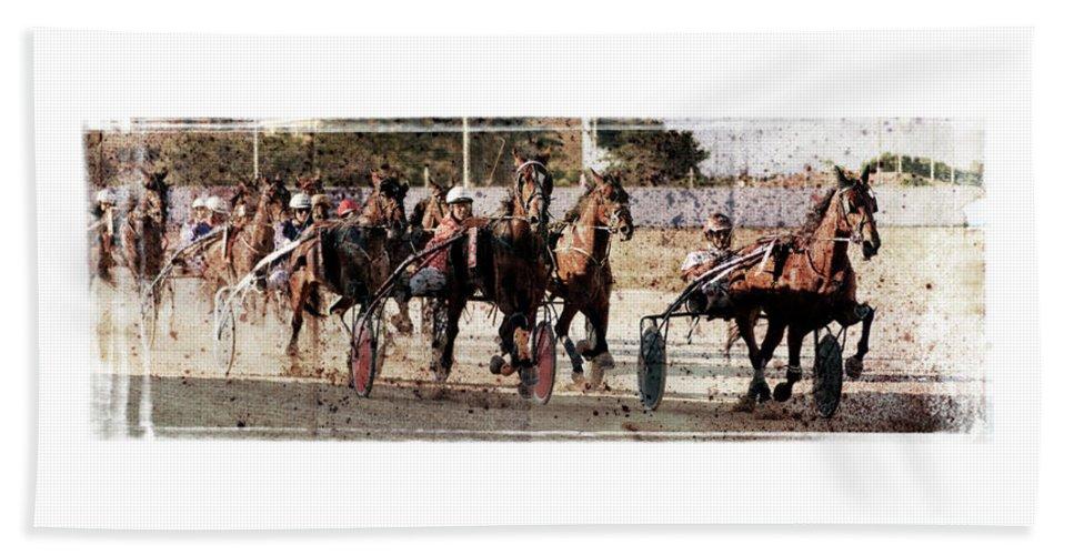 Horse Hand Towel featuring the photograph Trotting 3 by Pedro Cardona Llambias