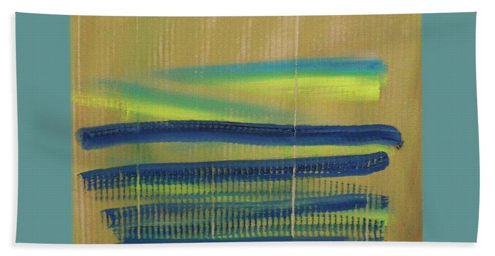 Tsunami Bath Sheet featuring the painting Tsunami II by Charles Stuart