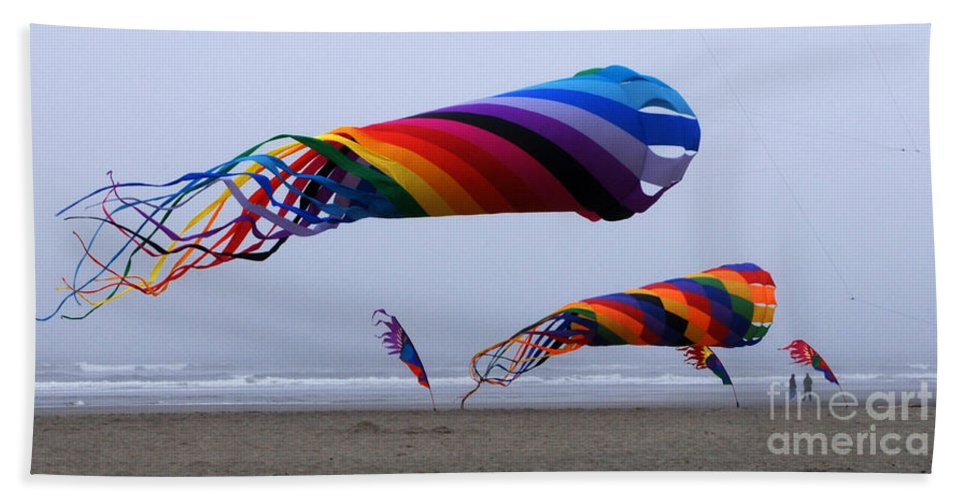 Kites Hand Towel featuring the photograph Go Fly A Kite 9 by Bob Christopher