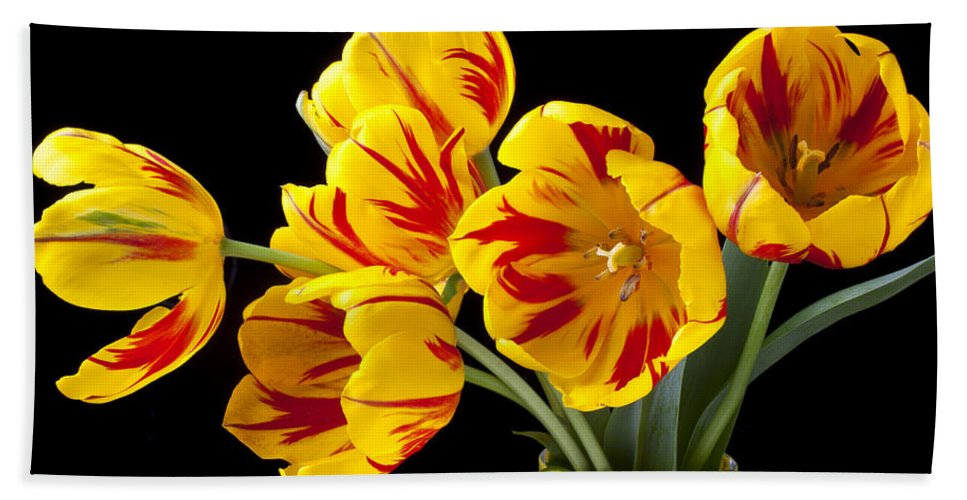 Bouquet Hand Towel featuring the photograph Tulip Bouquet by Garry Gay