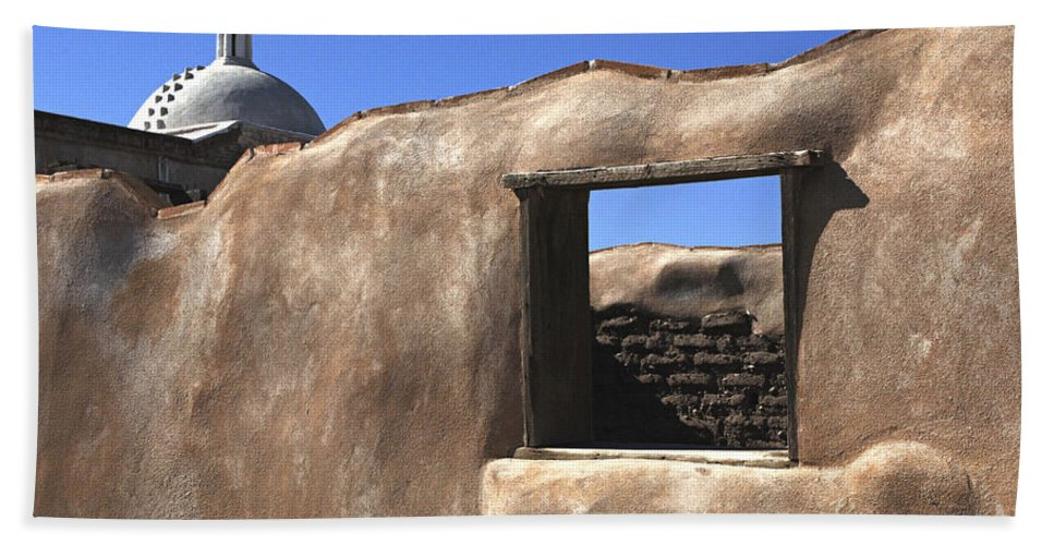 Mission Hand Towel featuring the photograph Tumacacori Arizona by Bob Christopher