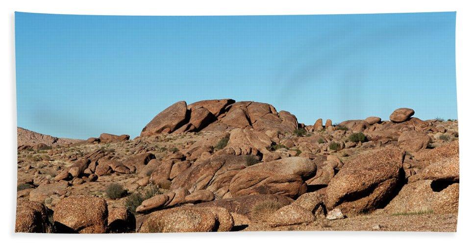 Gold Butte Region Bath Sheet featuring the photograph Tumbling Rocks Of Gold Butte by Lorraine Devon Wilke