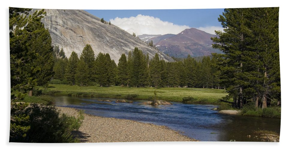 Forest Hand Towel featuring the photograph Tuolumne Meadow by Jim And Emily Bush