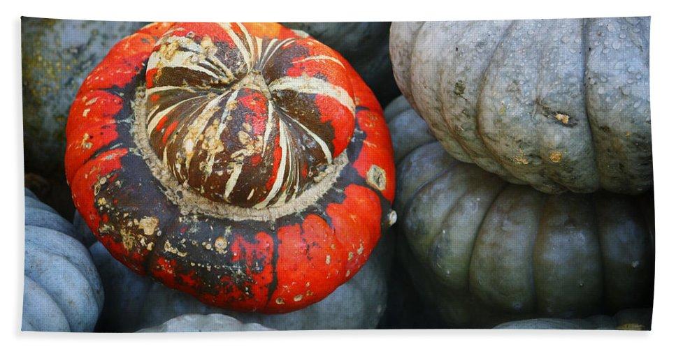 Autumn Bath Sheet featuring the photograph Turban Pumpkin by Joan Carroll