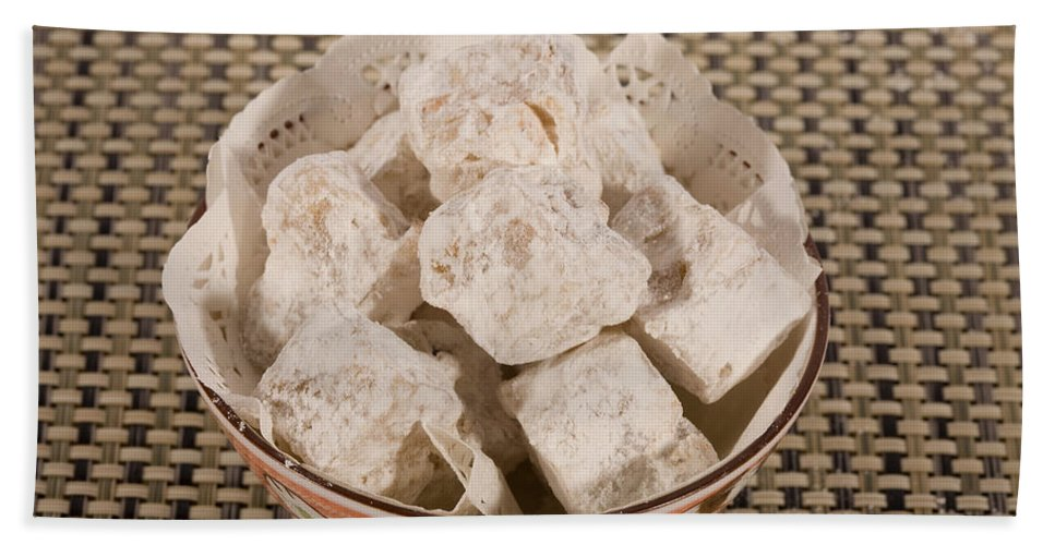 Turkish Delight Bath Sheet featuring the photograph Turkish Delight In A Bowl by Diane Macdonald