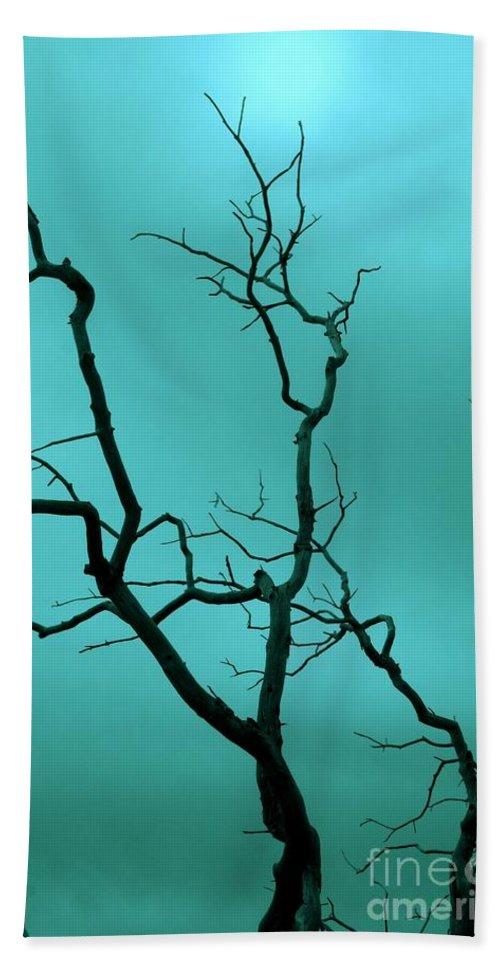 Tree Bath Sheet featuring the photograph Turquoise Sky by Ellen Heaverlo