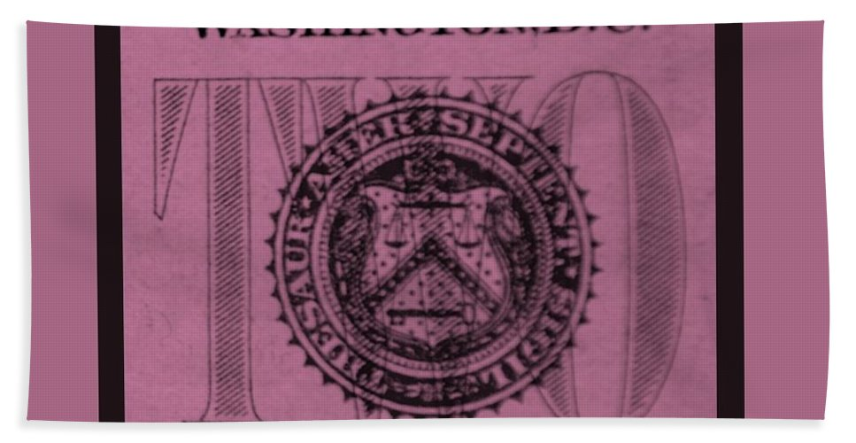 Money Bath Sheet featuring the photograph Two In Light Pink by Rob Hans