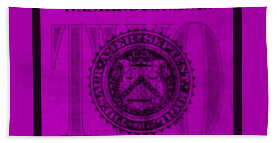 Money Bath Sheet featuring the photograph Two In Purple by Rob Hans