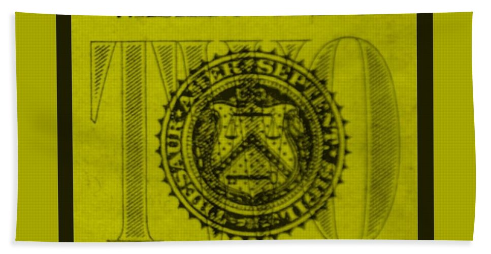 Money Bath Sheet featuring the photograph Two In Yellow by Rob Hans