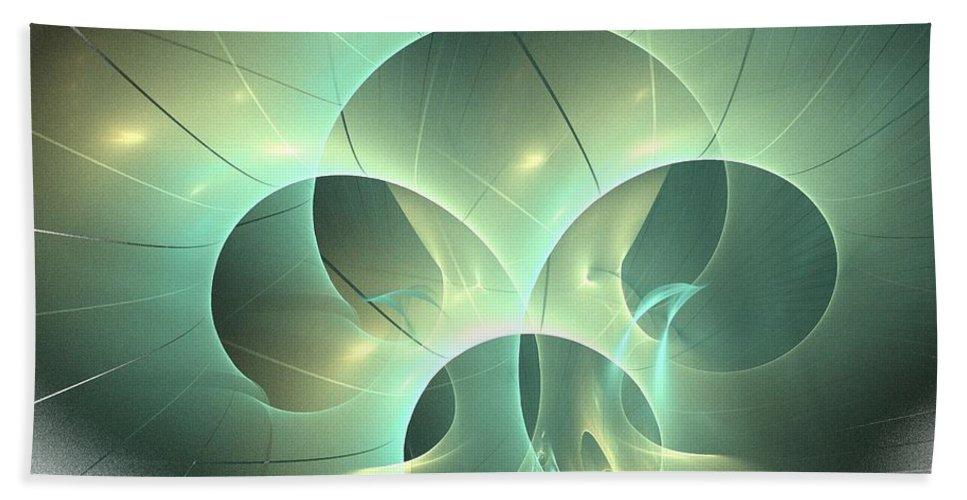 Apophysis Bath Sheet featuring the digital art Tyche by Kim Sy Ok