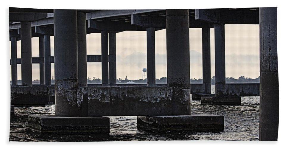 Bridge Bath Sheet featuring the photograph Under The Bridge by Roger Wedegis