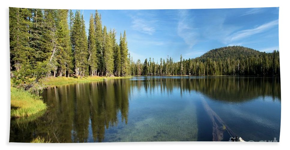 Summit Lake Bath Sheet featuring the photograph Under The Surface by Adam Jewell