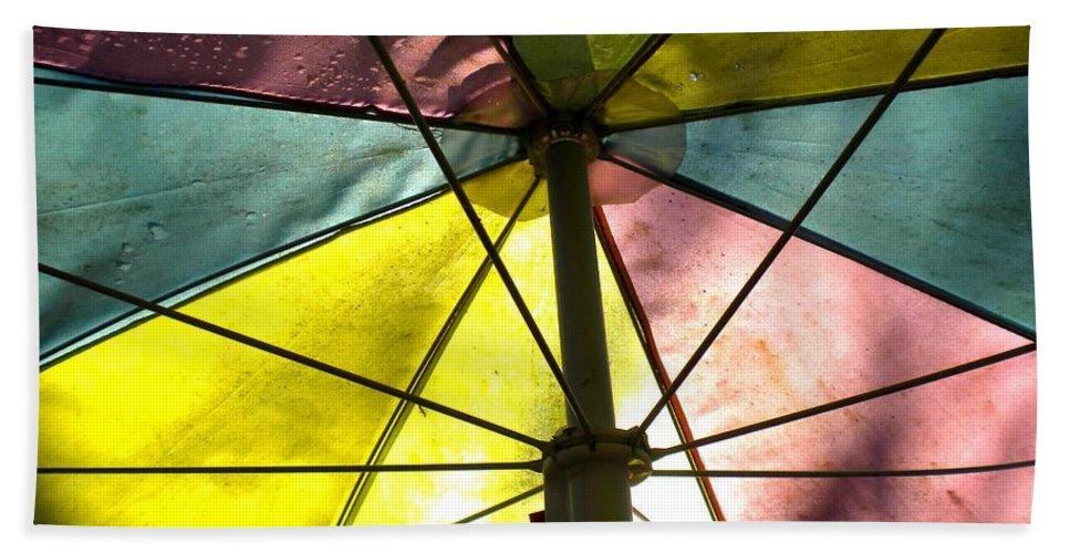 Umbrella Bath Sheet featuring the photograph Under The Umbrella by Renate Nadi Wesley