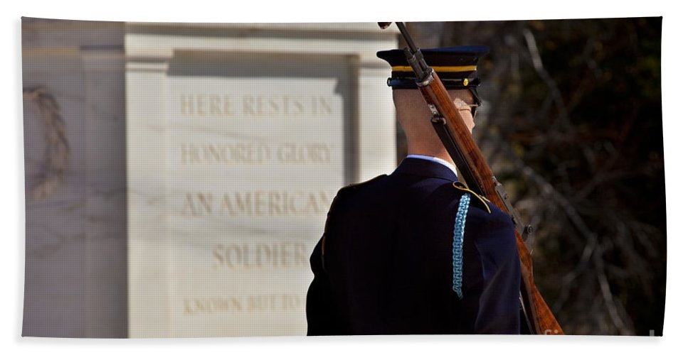 Tomb Of The Unknown Soldier Hand Towel featuring the photograph Unknown Soldier by Brian Jannsen