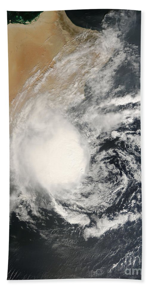 Arabian Sea Bath Sheet featuring the photograph Unnamed Tropical Cyclone Approaching by Stocktrek Images
