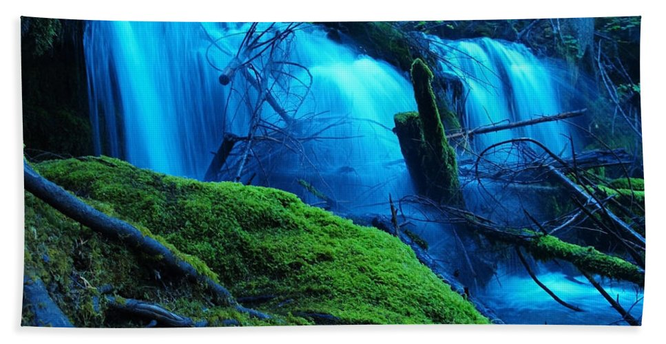 Waterfall Hand Towel featuring the digital art Unstoppable Flow by Teri Schuster