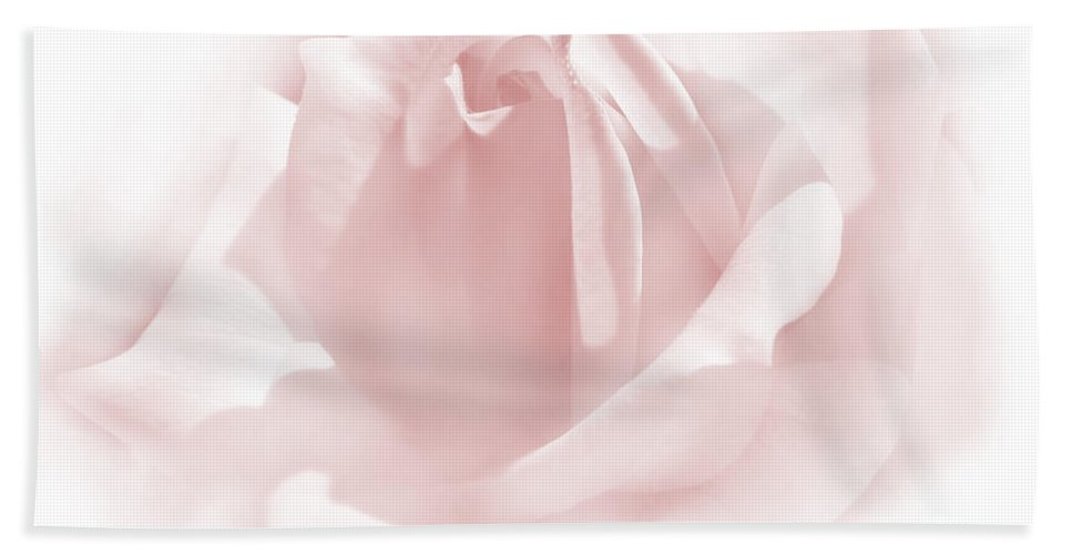 Rose Bath Sheet featuring the photograph Upon A Cloud Pink Rose Flower by Jennie Marie Schell