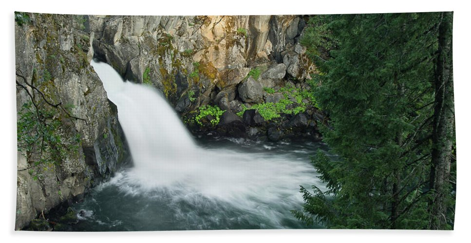 Waterfall Bath Sheet featuring the photograph Upper Mccloud Falls by Greg Nyquist