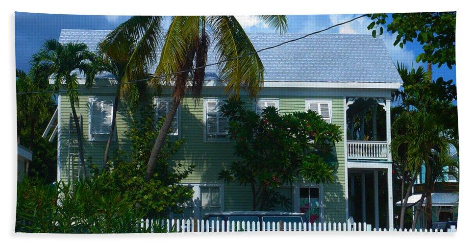 Key West Bath Sheet featuring the photograph Urban Key West by Susanne Van Hulst