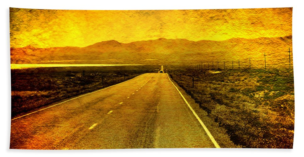 Nevada Bath Sheet featuring the photograph Us 50 - The Loneliest Road In America by Ellen Heaverlo