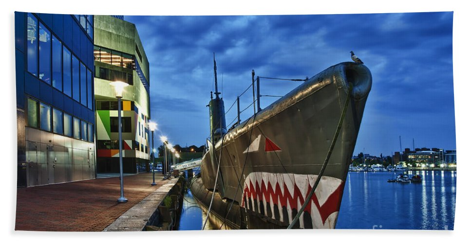 Baltimore Hand Towel featuring the photograph Uss Torsk Submarine Memorial by John Greim