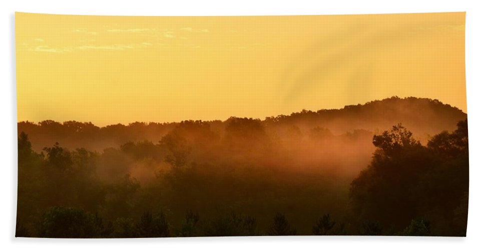 Valley Bath Sheet featuring the photograph Valley Fog by Maria Urso