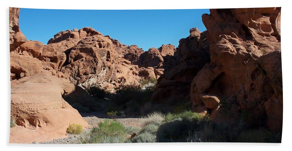 Valley Of Fire Nevada Bath Sheet featuring the photograph Valley Of Fire by Jonathan Barnes